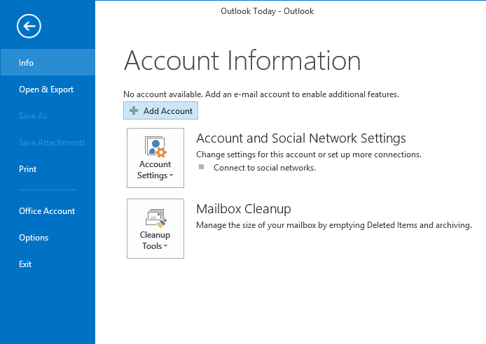 how to add a second email account to outlook 2013